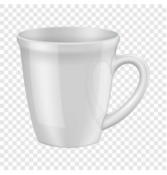 Empty white cup i mockup realistic style vector