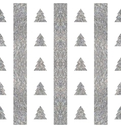 Festive seamless geometric silver textured pattern vector image