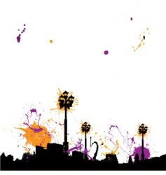 grunge town vector image vector image