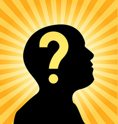 Human silhouette with question mark sign vector