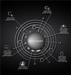 infographics steel vector image vector image