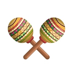 maracas instrument musical with mexican theme vector image vector image