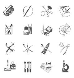 Medical healthcare icons set black vector