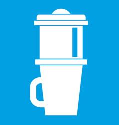 mug for coffee icon white vector image vector image