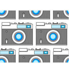 photographic camera pattern vector image vector image