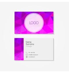 Polygonal business card vector