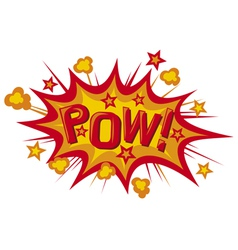 Pow comic book vector
