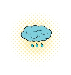 Rain cloud icon pop-art style vector image vector image