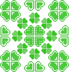 Seamless texture with green abstract patterns vector