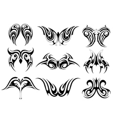 Set of tribal art tattoo vector image vector image