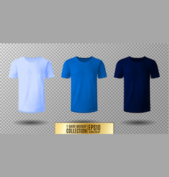 Shirt mock up set t-shirt template light normal vector
