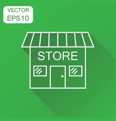 store icon business concept market store vector image