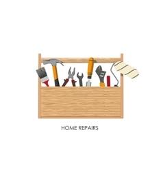 Toolbox Set of tools for home repairs vector image vector image