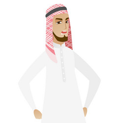 Young muslim angry businessman screaming vector