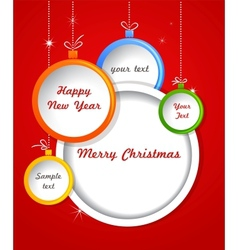 Christmas background with balls decorations vector