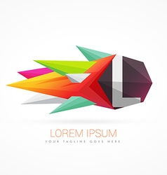 Colorful abstract logo with letter l vector