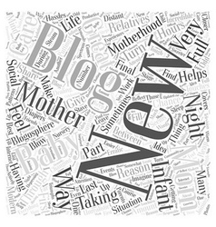 Your new baby blogging and modern motherhood word vector