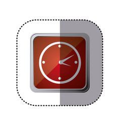Red emblem wall clock time vector