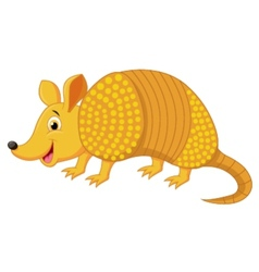 Cute armadillo cartoon vector