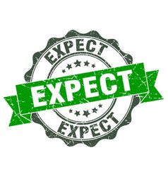 Expect stamp sign seal vector