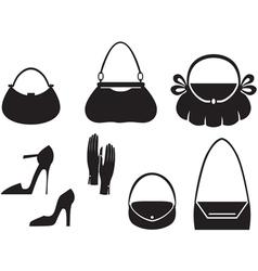 Handbag set vector