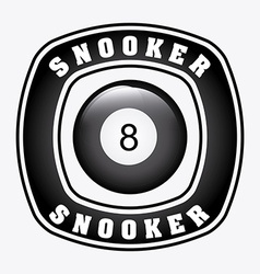 Snooker design vector