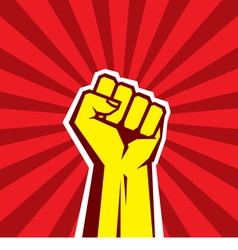 Hand up proletarian revolution - vector