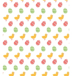 Spring easter egg and chicken seamless pattern vector