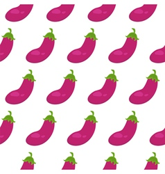 Seamless pattern with eggplant vector