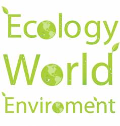 Eco titles vector