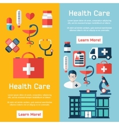 Medical brochure with flat elements vector