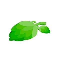 Branch of hops isometric 3d icon vector