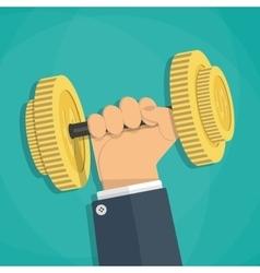 Business executive power lifting vector image