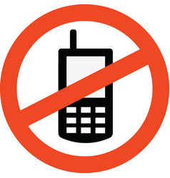 prohibited mobile vector image