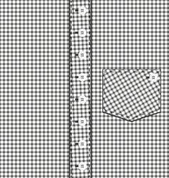 Abstract plaid shirt vector