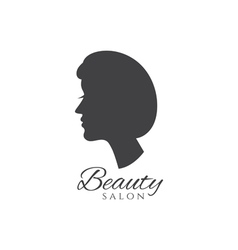 Conceptual logo silhouette of a woman with hair vector