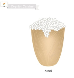 Ayrani or cypriot fermented milk with sour flavor vector