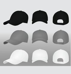 baseball caps template vector image vector image