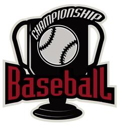 Baseball tournament professional logo vector image vector image
