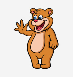 Bear cartoon character vector