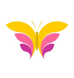 Butterfly simple logo vector