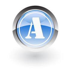 Circle lettre a icon logo vector