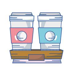 delicious coffe espresso plastic cup vector image vector image