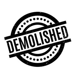 Demolished rubber stamp vector