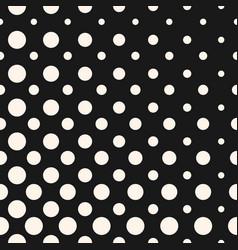 diagonal halftone dots seamless pattern circles vector image vector image