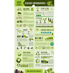 Eco environment protection infographic design vector