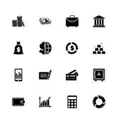 financical - flat icons vector image vector image
