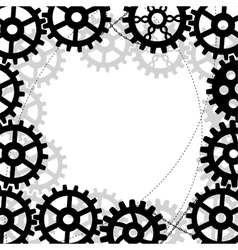 frame with gears vector image