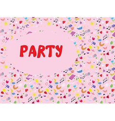 Funny party invitation cute vector image vector image