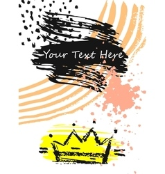 Golden crown in comic style vector image